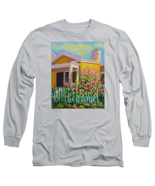 Hot Hollyhocks Long Sleeve T-Shirt