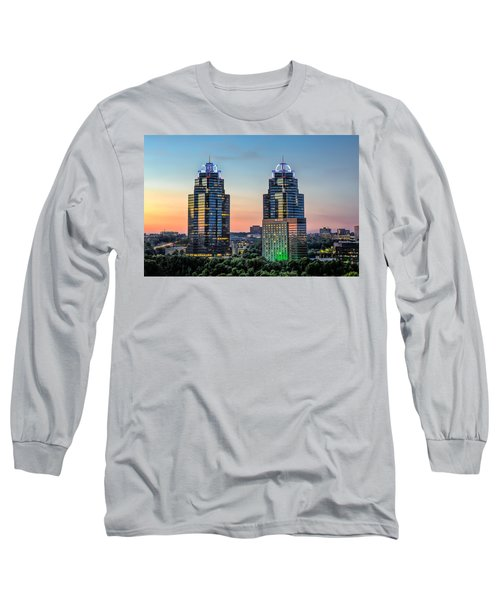 Long Sleeve T-Shirt featuring the photograph King And Queen Buildings by Anna Rumiantseva