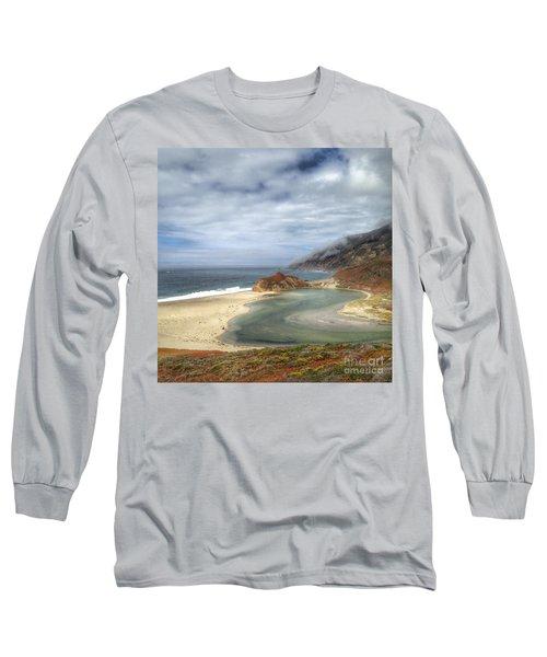 Little Sur River In Big Sur Long Sleeve T-Shirt