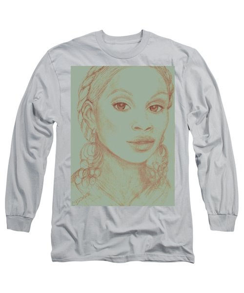 Mary J Blige Long Sleeve T-Shirt by Christy Saunders Church
