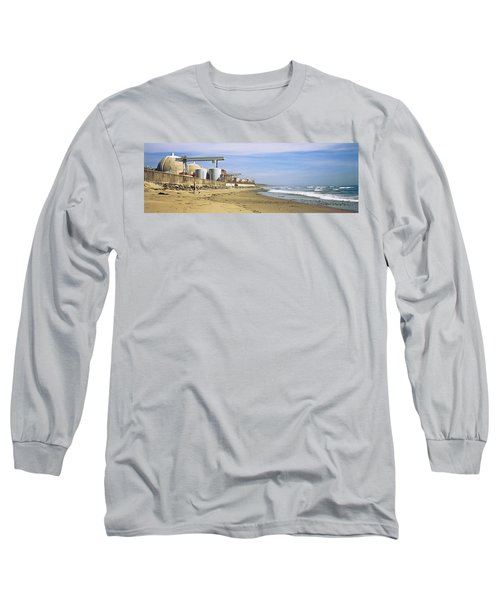 Nuclear Power Plant On The Beach, San Long Sleeve T-Shirt