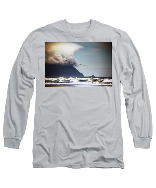 Water Long Sleeve T-Shirt featuring the photograph Oregon Coast  by Aaron Berg