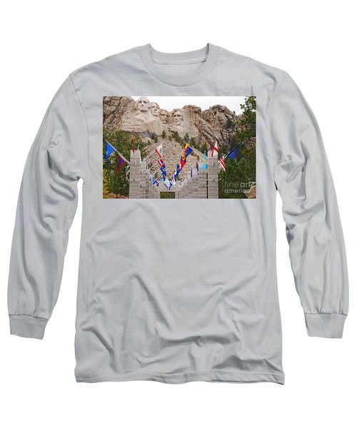 Patriotic Faces Long Sleeve T-Shirt by Mary Carol Story