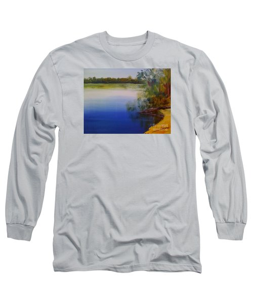 Long Sleeve T-Shirt featuring the painting Still Waters - Original Sold by Therese Alcorn