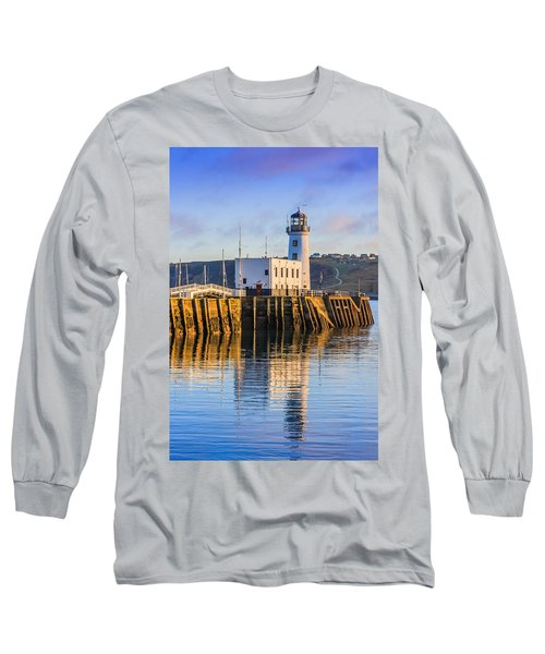 Sunset Over Scarborough Lighthouse Long Sleeve T-Shirt