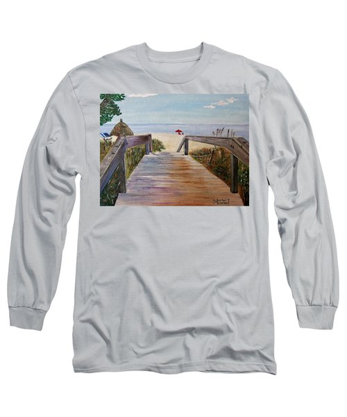 Long Sleeve T-Shirt featuring the painting To The Beach by Marilyn  McNish
