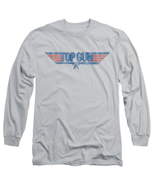 Top Gun - 8 Bit Logo Long Sleeve T-Shirt