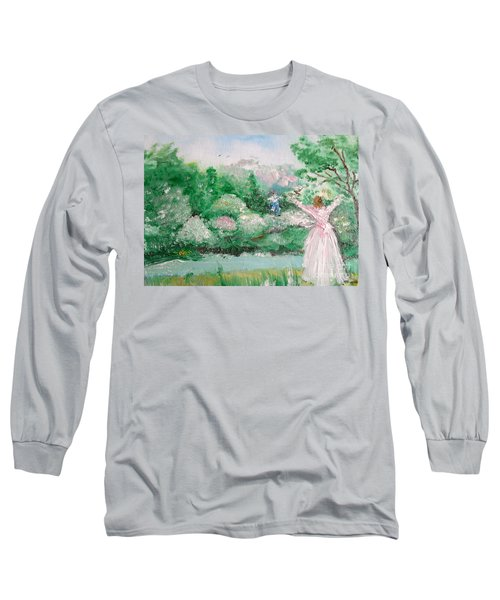 Welcome Home Love Long Sleeve T-Shirt by Laurie L