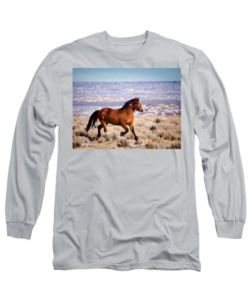 Eagle - Wild Horse Stallion Long Sleeve T-Shirt