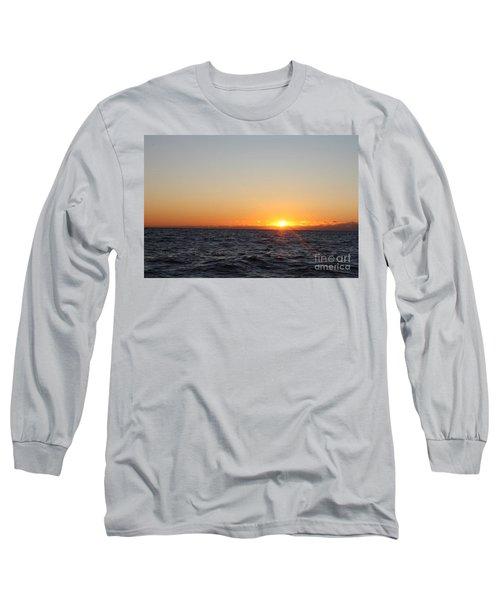 Winter Sunrise Over The Ocean Long Sleeve T-Shirt