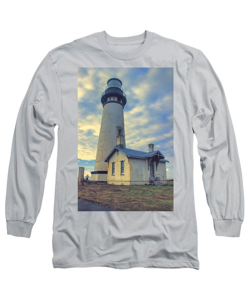Yaquina Head Lighthouse Long Sleeve T-Shirt by Cathy Anderson