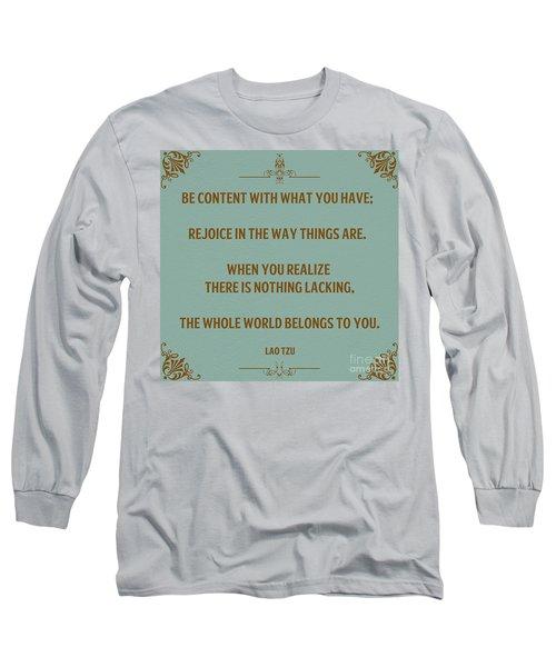 169- Lao Tzu Long Sleeve T-Shirt