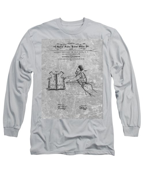 1869 Life Preserver Patent Charcoal Long Sleeve T-Shirt