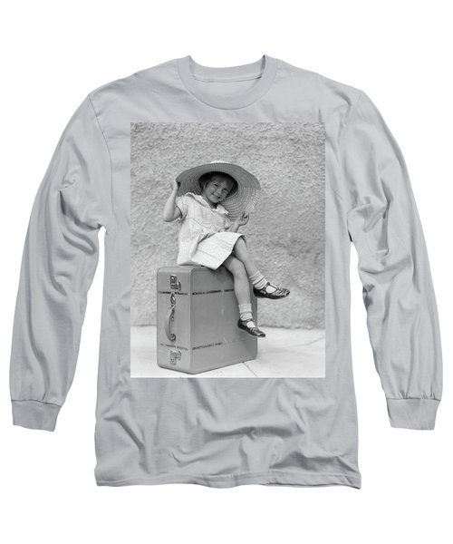 1930s Portrait Smiling Little Girl Long Sleeve T-Shirt