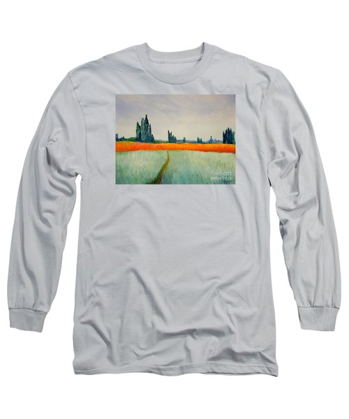 Long Sleeve T-Shirt featuring the painting After Monet by Bill OConnor