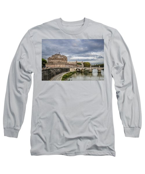 Castle St Angelo In Rome Italy Long Sleeve T-Shirt