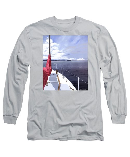 Long Sleeve T-Shirt featuring the painting Cruising North by Gary Giacomelli