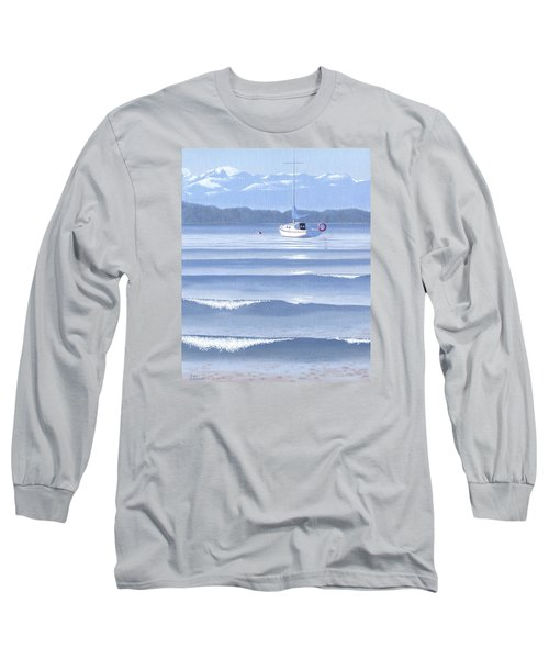 Long Sleeve T-Shirt featuring the painting From The Beach by Gary Giacomelli