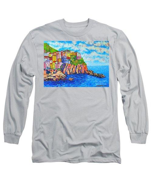 Manarola Cinque Terre Italy  Long Sleeve T-Shirt