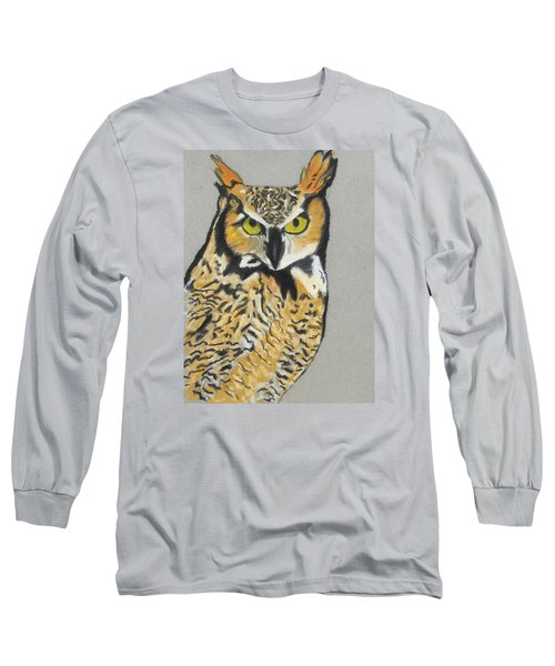 Long Sleeve T-Shirt featuring the painting Night Owl by Jeanne Fischer