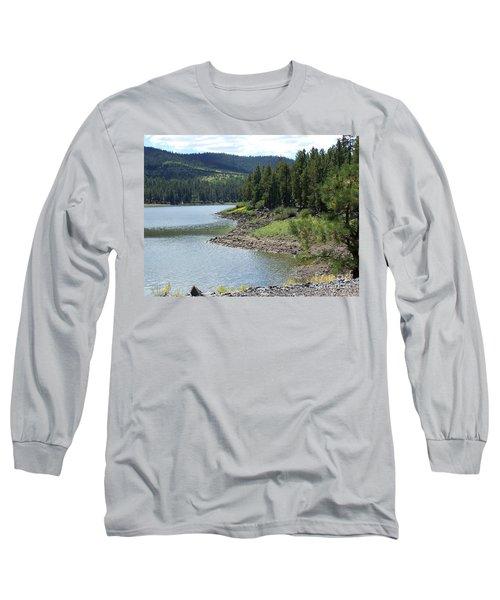 River Reservoir Long Sleeve T-Shirt by Pamela Walrath