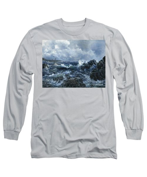 Long Sleeve T-Shirt featuring the painting Sailor's Light by Lynne Wright