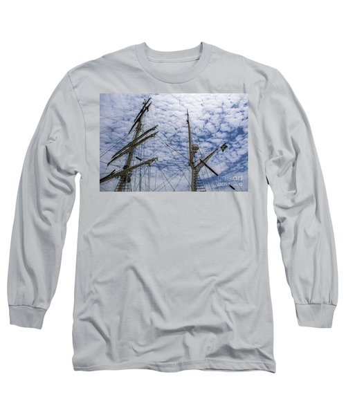 Tall Ship Mast Long Sleeve T-Shirt by Dale Powell