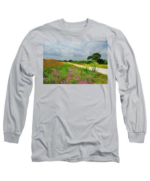 Wildflower Wonderland Long Sleeve T-Shirt by Lynn Bauer