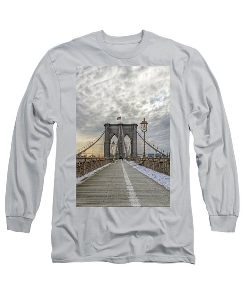 Long Sleeve T-Shirt featuring the photograph Brooklyn Bridge by Jerry Gammon