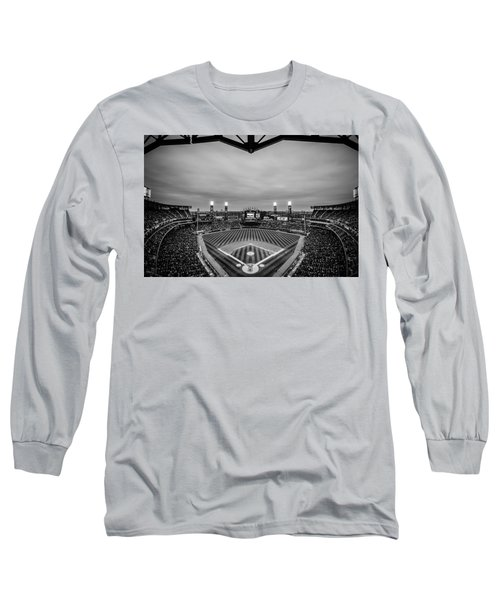Comiskey Park Night Game - Black And White Long Sleeve T-Shirt