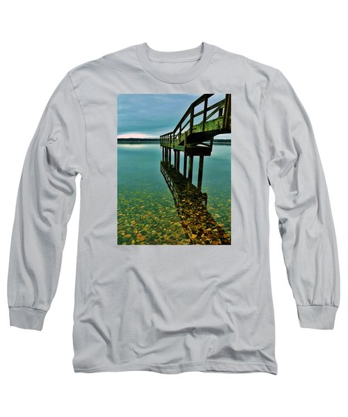 3 Mile Harbor Long Sleeve T-Shirt by John Wartman