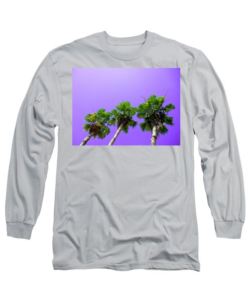 Long Sleeve T-Shirt featuring the photograph 3 Palms by J Anthony