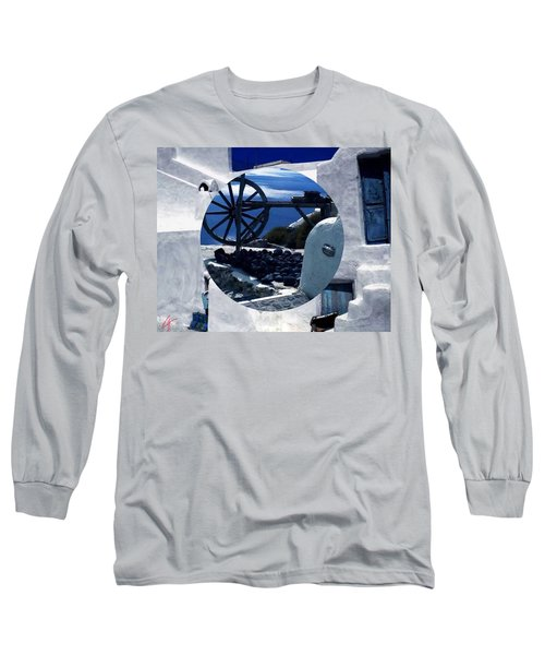 Long Sleeve T-Shirt featuring the photograph Santorini Island Greece by Colette V Hera  Guggenheim
