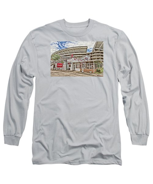 In The Shadow Of The Stadium - Hdr Long Sleeve T-Shirt