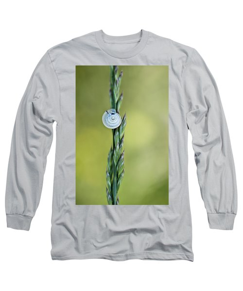 Snail On Grass Long Sleeve T-Shirt