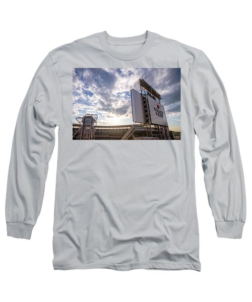 Target Field Sunset Long Sleeve T-Shirt by Tom Gort