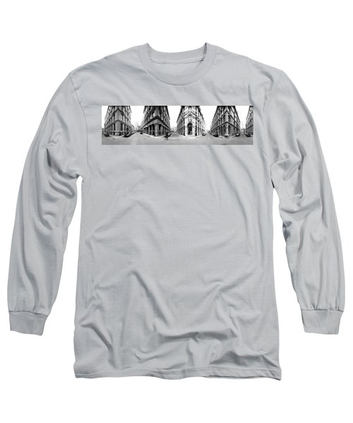 360 Degree View Of A City, Montreal Long Sleeve T-Shirt