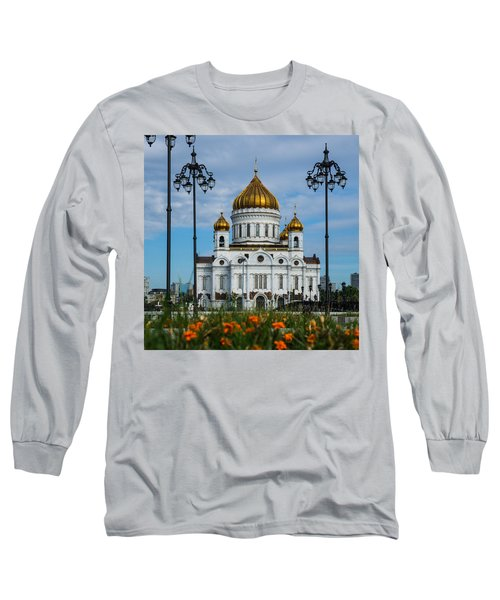 Cathedral Of Christ The Savior Of Moscow - Russia - Featured 3 Long Sleeve T-Shirt by Alexander Senin