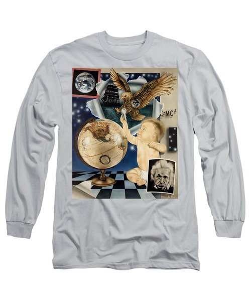 Discovery Of The New World Long Sleeve T-Shirt by Rich Milo