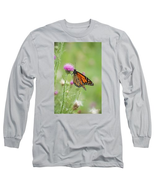 Long Sleeve T-Shirt featuring the photograph Monarch Butterfly by Heidi Poulin