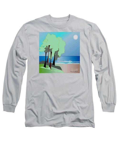 Long Sleeve T-Shirt featuring the digital art My Special Island by Iris Gelbart