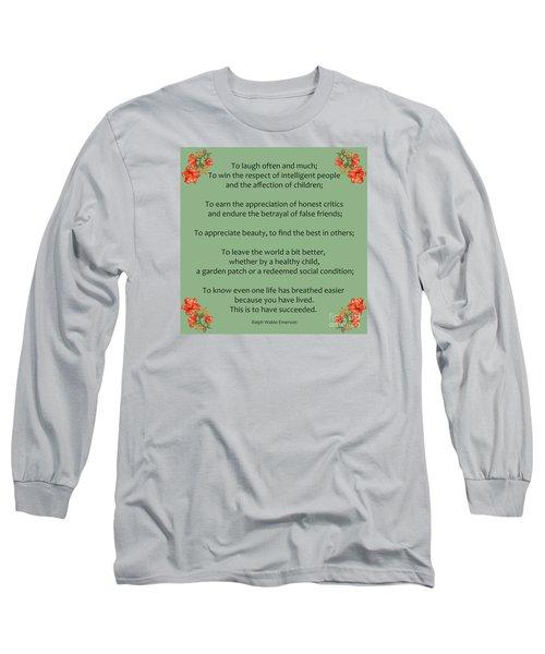 75- Ralph Waldo Emerson Long Sleeve T-Shirt