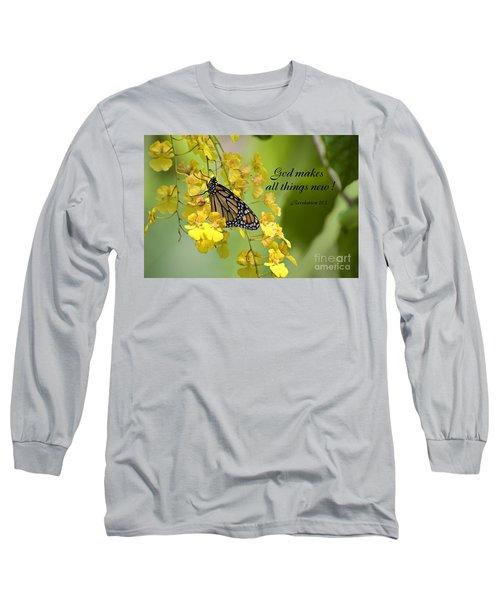 Butterfly Scripture Long Sleeve T-Shirt