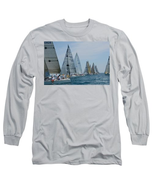 Sailboat Race Long Sleeve T-Shirt by Randy J Heath