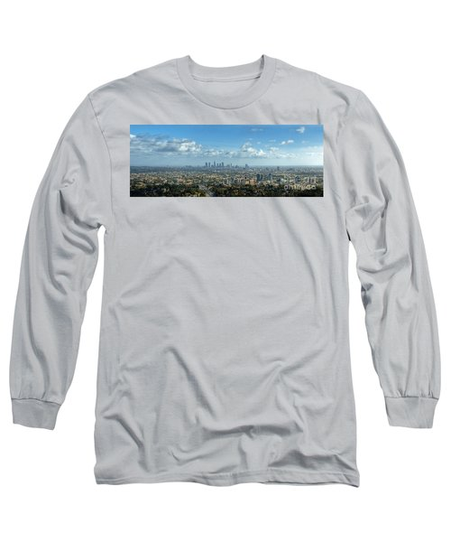 A 10 Day In Los Angeles Long Sleeve T-Shirt by David Zanzinger