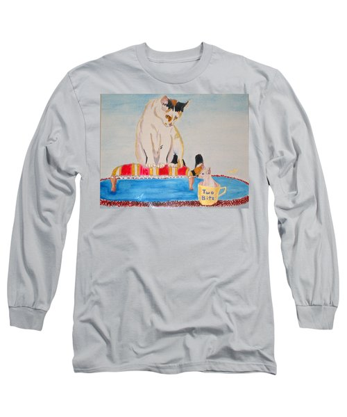 Long Sleeve T-Shirt featuring the painting A Cup Of Chihuahua by Phyllis Kaltenbach