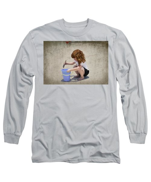 A Day At The Beach Long Sleeve T-Shirt by Charles Beeler