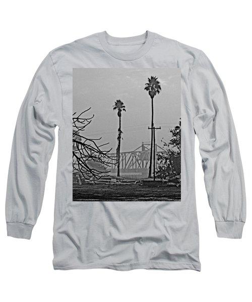 a Delta drawbridge in the morning mist Long Sleeve T-Shirt