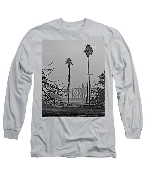 a Delta drawbridge in the morning mist Long Sleeve T-Shirt