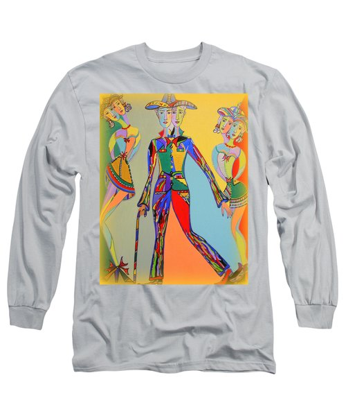 Long Sleeve T-Shirt featuring the painting Men's Fantasy by Marie Schwarzer